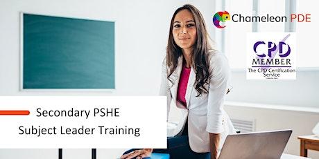 Secondary PSHE Subject Leader Training tickets