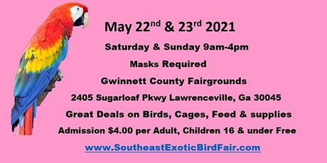 Southeast Exotic Bird Fair Lawrenceville Ga tickets