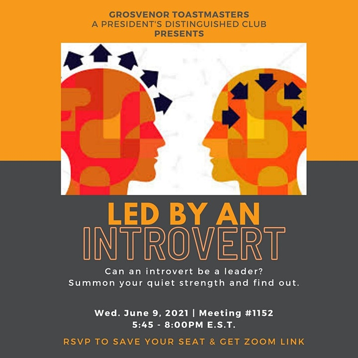 gTM Online Club Meeting #1152 - Theme: Led by an Introvert image