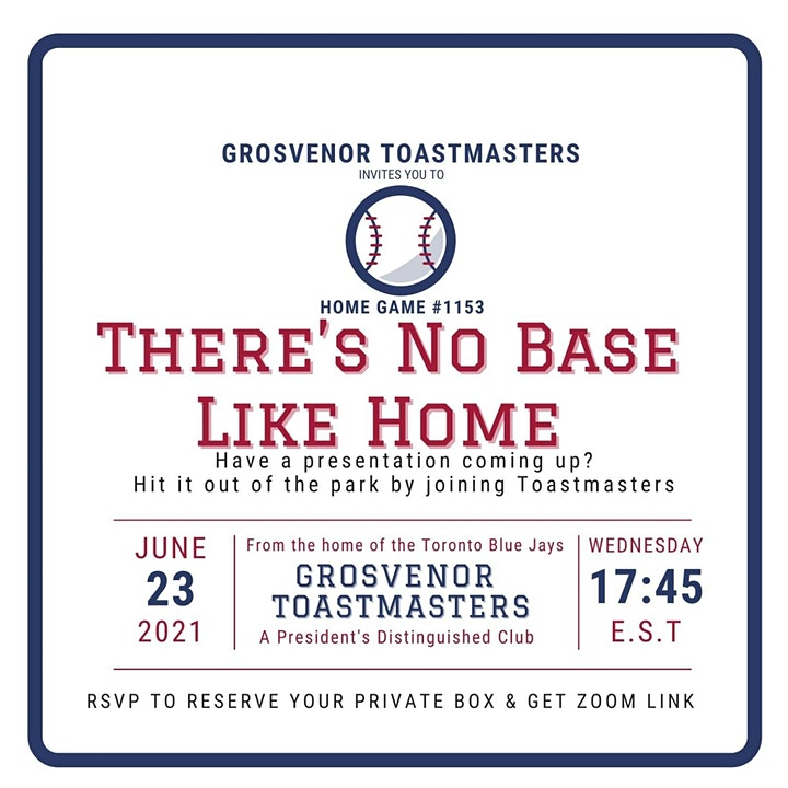 gTM Online Club Meeting #1153 - Theme: There's No Base Like Home image