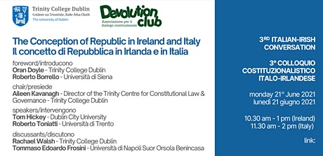 TriCON Irish-Italian Constitutional Conversations tickets