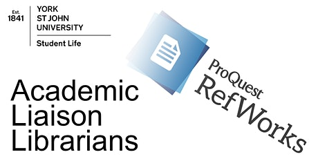 Managing your referencing with RefWorks (ON CAMPUS  Fri 21st May 2021 11am) tickets
