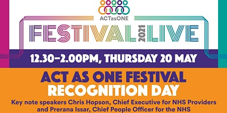 Act as One Festival Recognition Day tickets