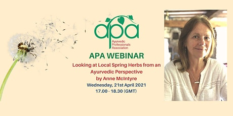 VIDEO RECORDING - Local Herbs from an Ayurvedic Perspective Anne McIntyre tickets