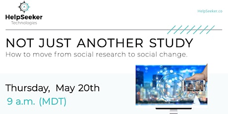 Webinar: How to Move From Social Research to Social Change tickets
