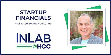 Startup Financials - Virtual through Zoom tickets