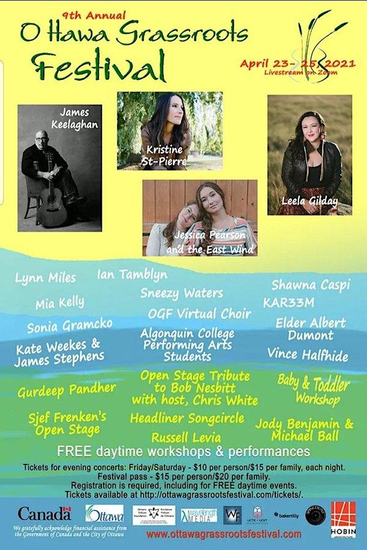 Ottawa Grassroots Festival 2021 - FREE Daytime Performances and Workshops image
