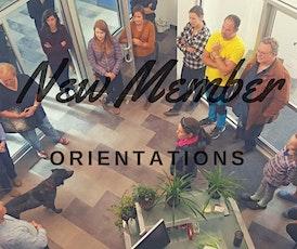 New Member Orientation tickets