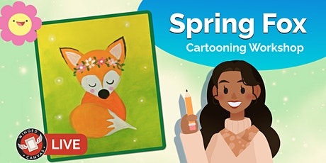 Cartooning Workshop - Step by Step Lesson for Kids (Spring Fox) tickets