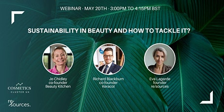 Sustainability in beauty and how to tackle it? tickets