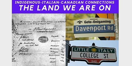 Indigenous-Italian-Canadian Connections: The Land We Are On tickets