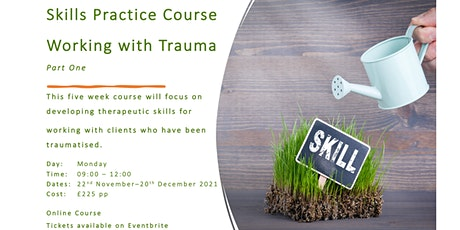 Counselling Skills Practice Course, Working with Trauma tickets