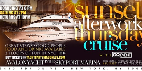 SUNSET AFTERWORK YACHT PARTY #GQEVENT tickets