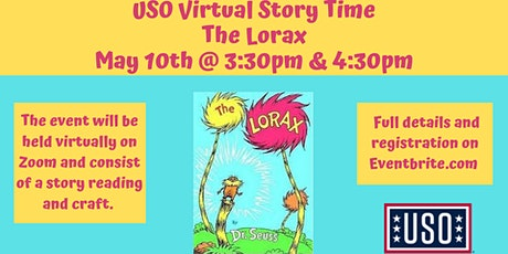 """USO VIRTUAL Story Time """"The Lorax"""" tickets"""