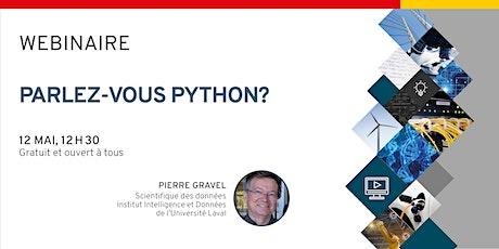 Webinaire - Parlez-vous Python? billets