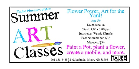 Flower Power, Art for the Yard! tickets