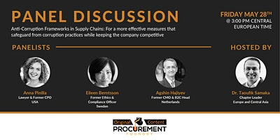 Panel Discussion  – Anti-Corruption Frameworks in Supply Chain