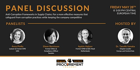 Panel Discussion  - Anti-Corruption Frameworks in Supply Chain tickets