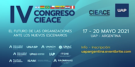 IV CONGRESO INTERNACIONAL CIEACE boletos