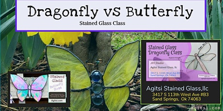 $75 Class for Two,  Make a Stained Glass Butterfly/Dragonfly , Ages 21 up tickets