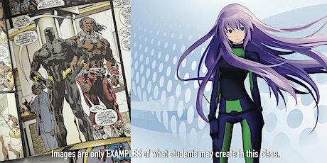6/28 - 7/1/2021 Comic Book Design & Manga/Anime tickets
