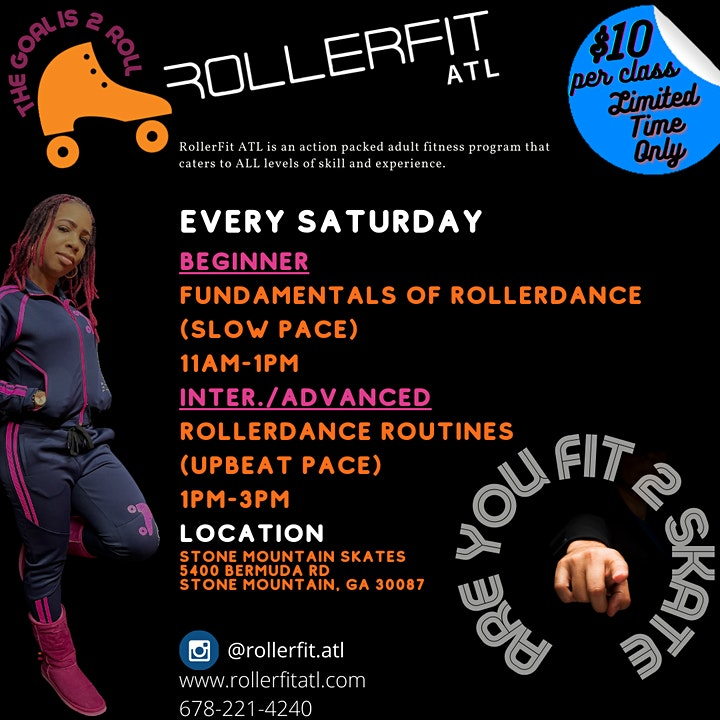 RollerFit ATL  - Live Zoom Class image