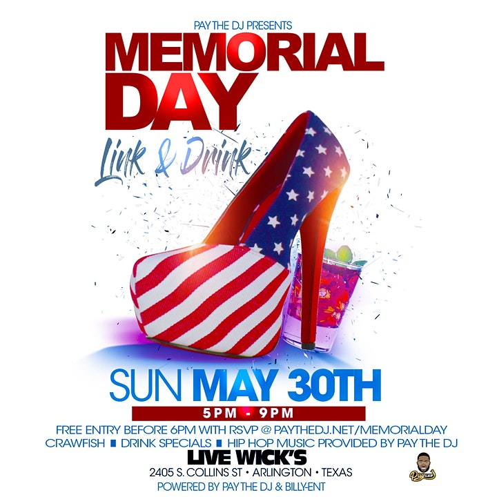 Memorial Day Link And Drink Day Party image