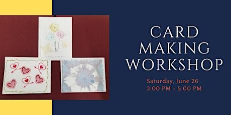 Card Making Workshop tickets