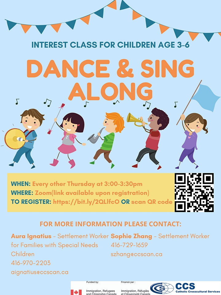 Interest Class for Kids Age 3-6 - Dance & Sing Along image