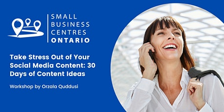 Take Stress Out of Your Social Media Content: 30 Days of Content Ideas tickets