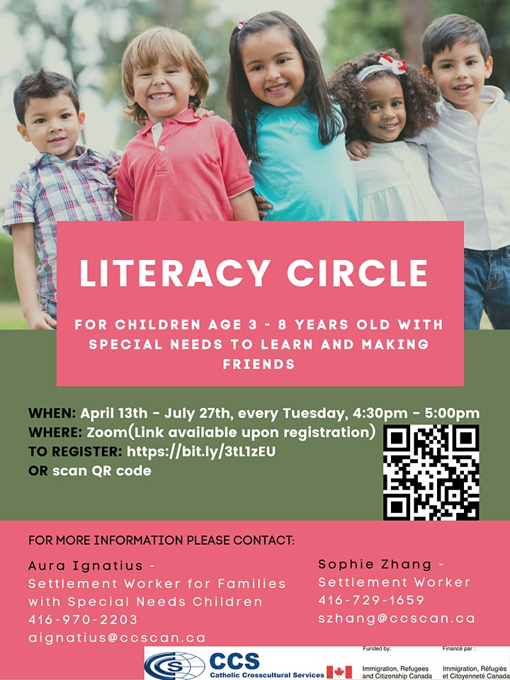 Literacy Circle - For children age 3 - 8  years old with special needs image