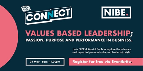 Values based leadership; passion, purpose and performance in business tickets