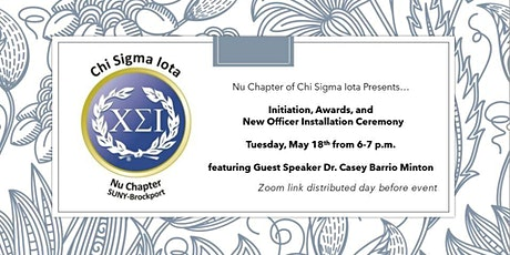 Initiation, Awards, and New Officer Installation Ceremony tickets