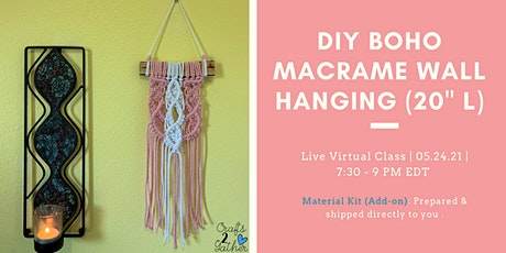 DIY Macramé Hanger: Small but Packs a Punch tickets