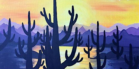 "Paint and Sip Event ""Twilight Cactus"" tickets"
