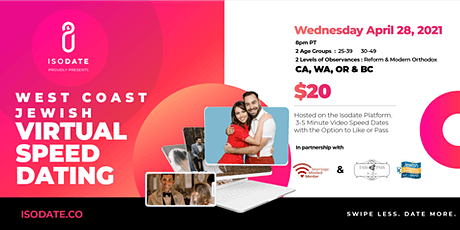 Isodate's West Coast Jewish Virtual Speed Dating Event. tickets