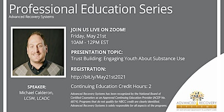 Professional Education Series: Engaging Youth About Substance Use tickets
