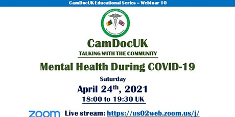 CamDocUK Talking with the Community: Mental Health During Covid 19 tickets