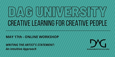 Writing the Artist's Statement: An Intuitive Approach tickets