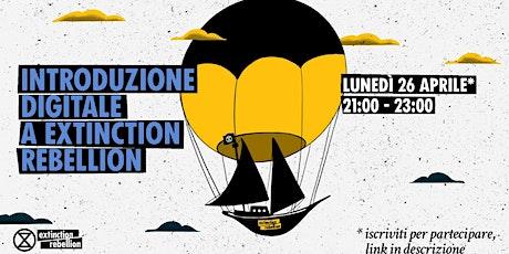 Introduzione digitale a Extinction Rebellion biglietti