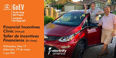 EV Financial Incentives Clinic/Taller de Incentivos Financieros Para EVs entradas