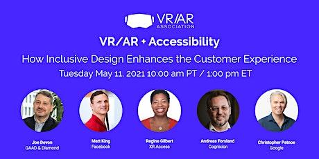 VRARA Webinar: VR/AR + Accessibility tickets