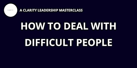 How to deal with difficult people: the four week promise tickets