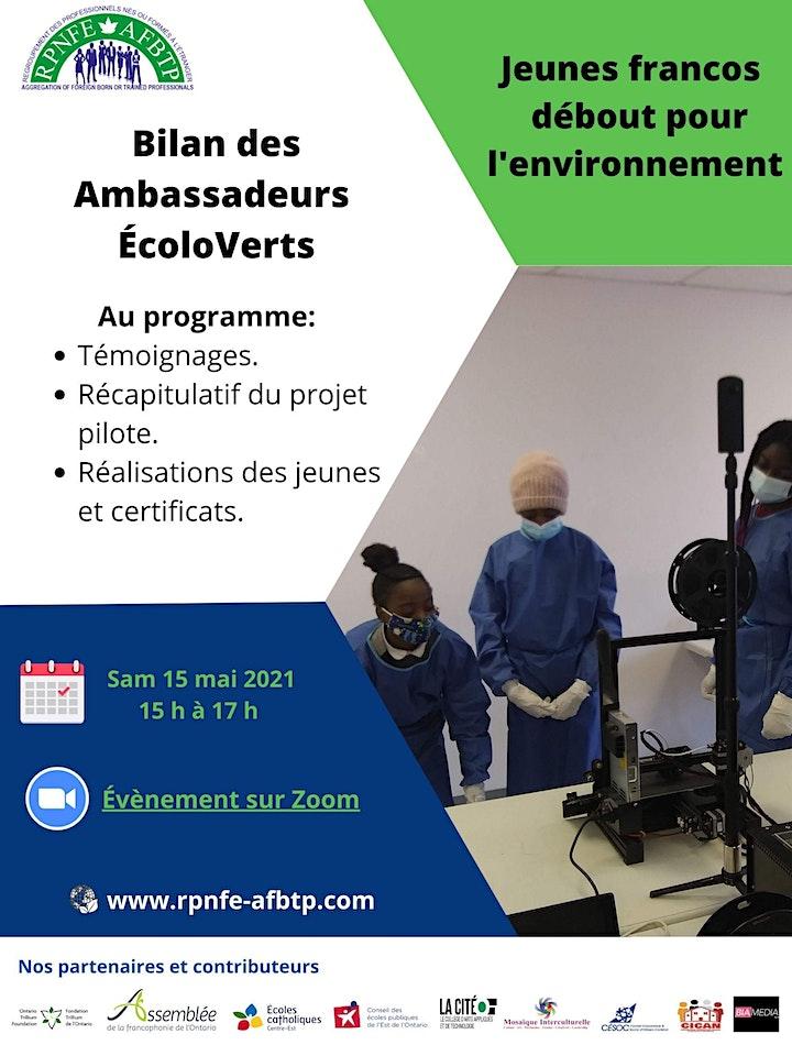 Clôture du projet pilote  Ambassadeurs ÉcoloVerts Francophones image