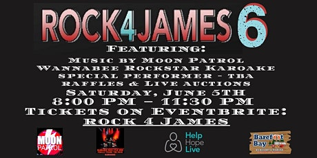 ROCK4James 6 2021 series for Help Hope Live tickets