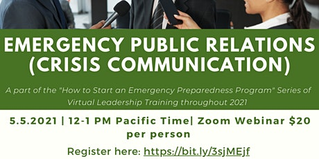 Emergency Public Relations (Crisis Communications) tickets