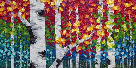Textured Painting Workshop: Colorful Birchwood Trees tickets