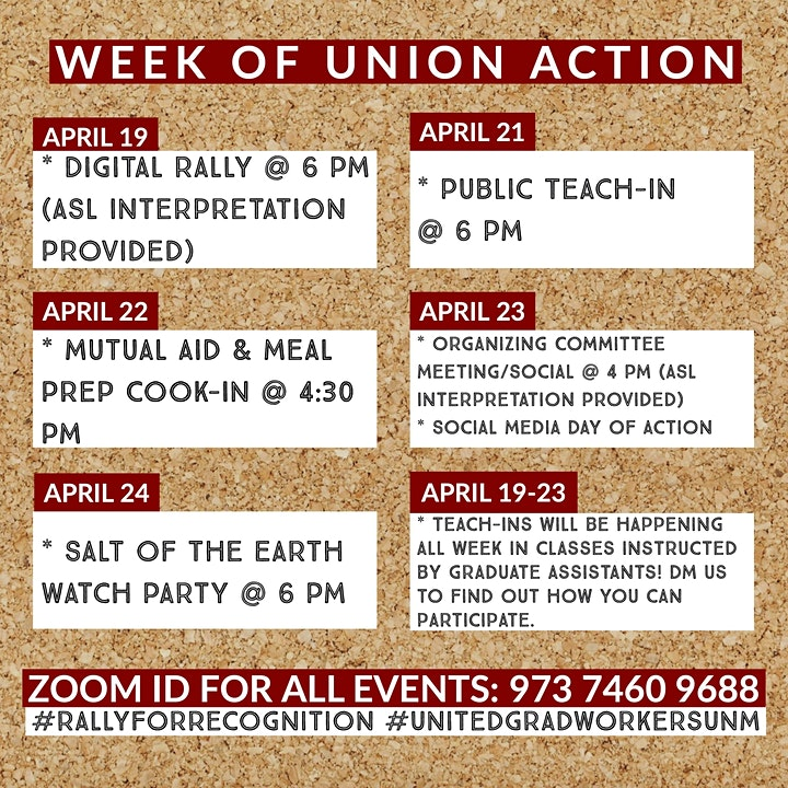Rally for Recognition: A Week of Union Action image