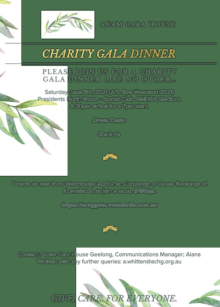 Anam Cara House Geelong Charity Gala Dinner image