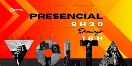 Domingo 25/04 Presencial- 9h30 E 18h ingressos